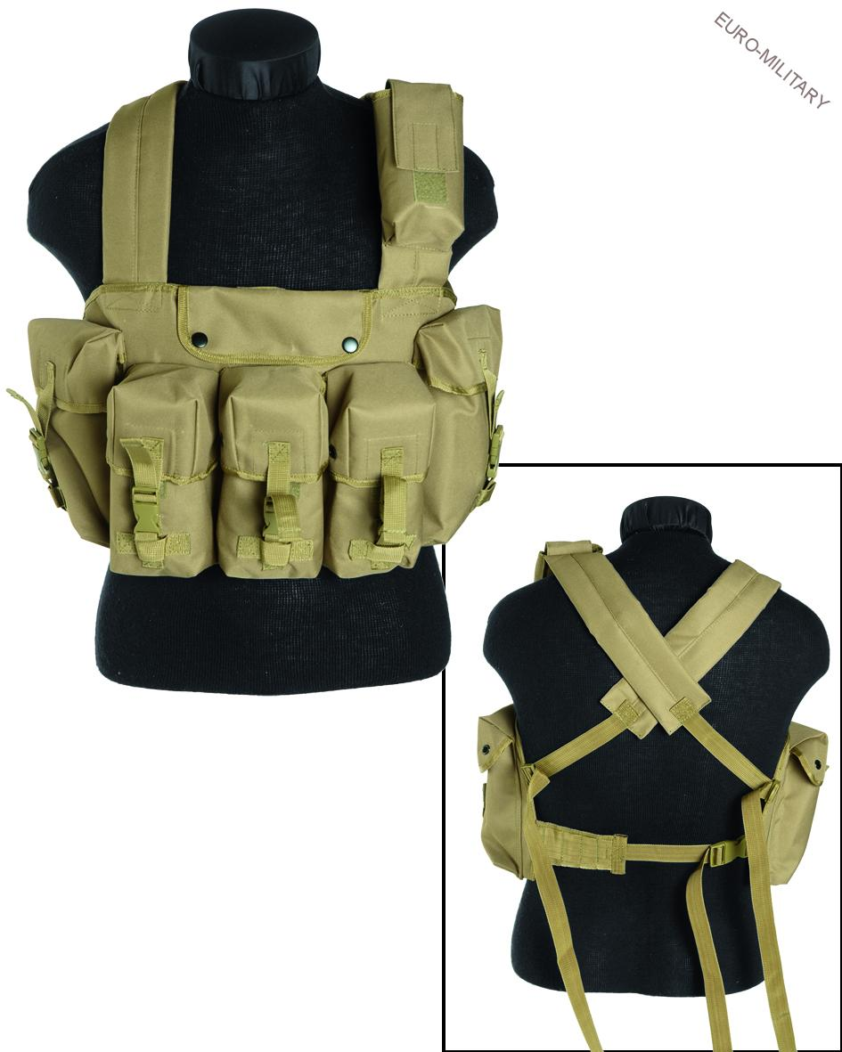 Tactical Army Chest Rig Vest - Coyote