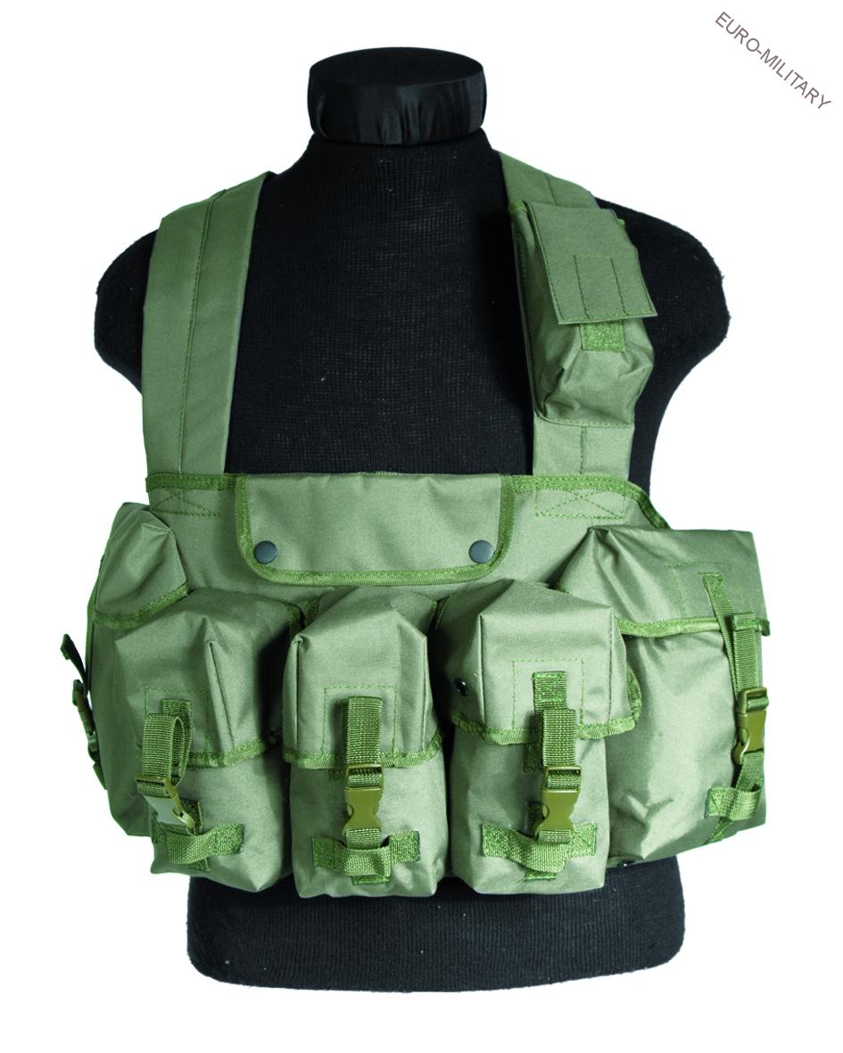 Tactical Army Chest Rig Vest - Olive