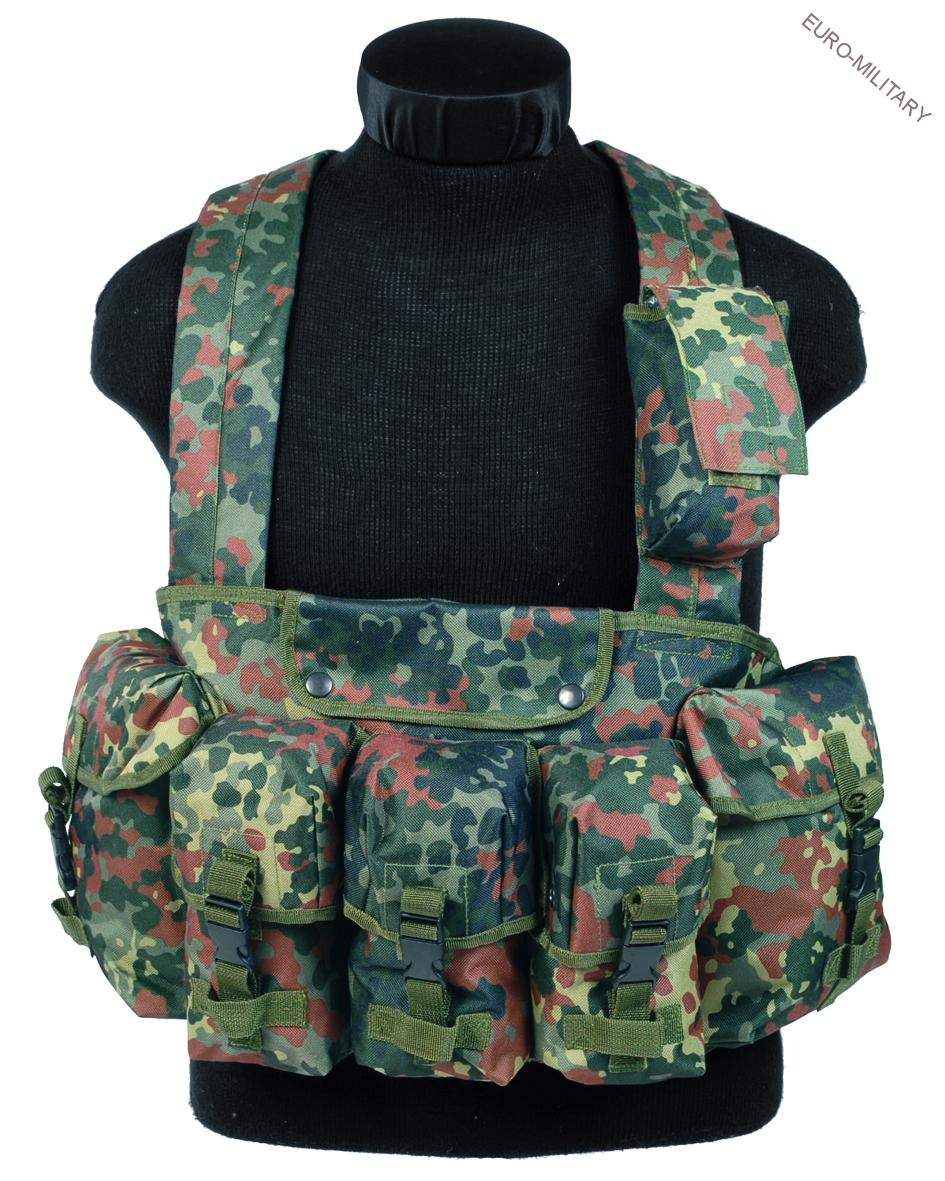 Tactical Army Chest Rig Vest - BW Flecktarn