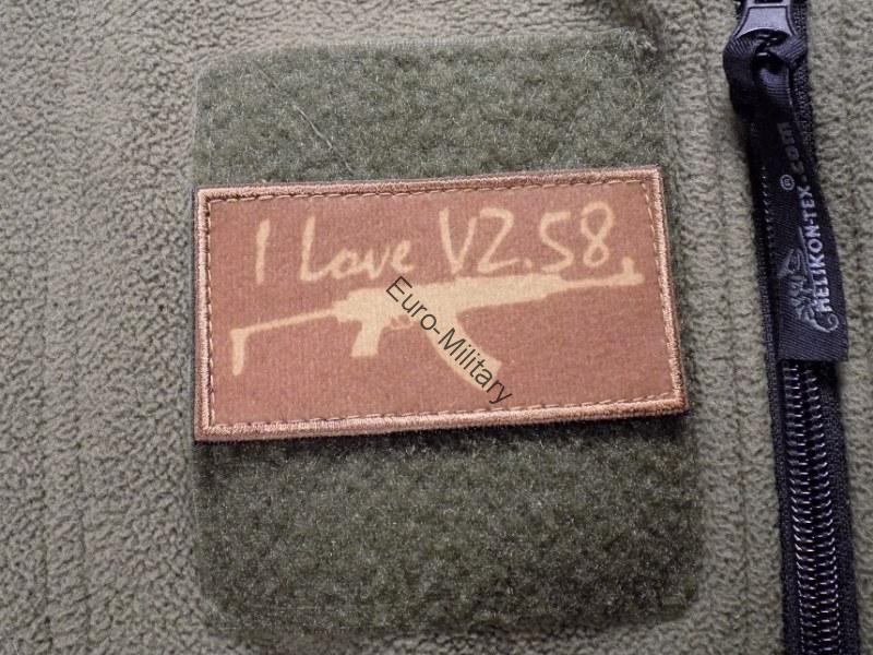 Velcro Patch I Love VZ.58 - Coyote