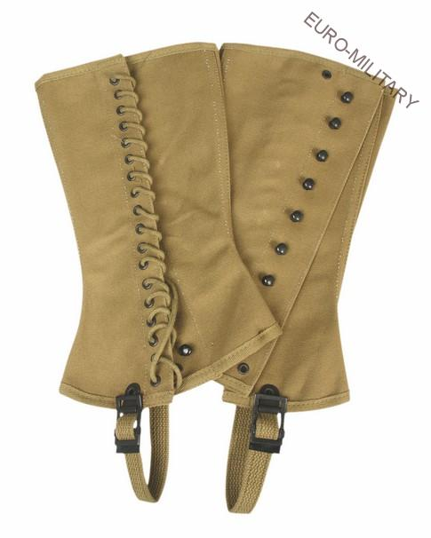 WW2 US Army M1938 Canvas Leggins Spats Gaiters Size 4R