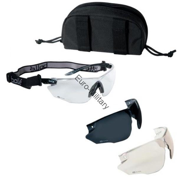 Bolle® Tactical Ballistic Military Safety Glasses 3 Lens Kit