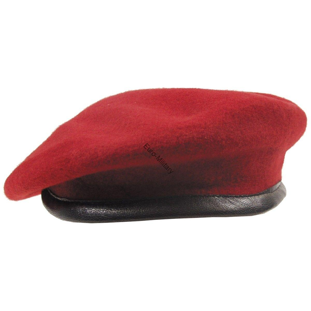 BW German Army High Quality Special Commando Unit Red Beret - Wool