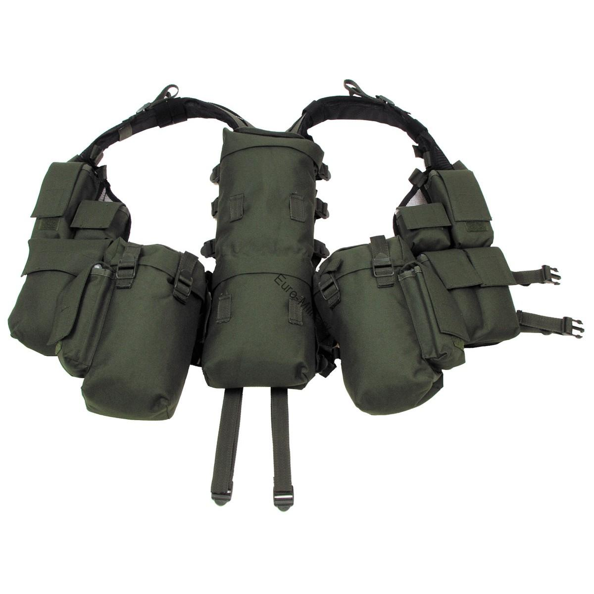 Military Spec Ops Tactical Vest with Various Pockets - OD Green
