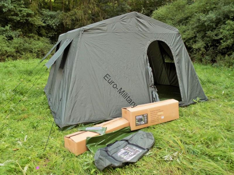 Military Army Outdoor Large BaseCamp Tent Shelter 6 Person - Olive