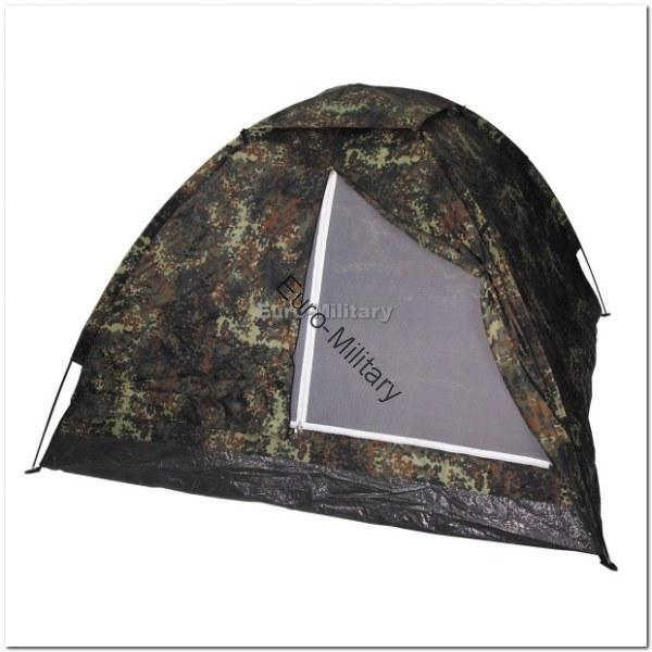 Military Tactical 3 Man Monodom Outdoor BW German Army Camo Shelter Tent