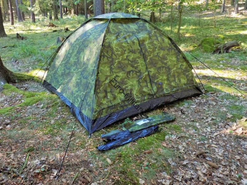 Military Tactical 3 Man Monodom Outdoor Czech Army Camo M95 Shelter Tent