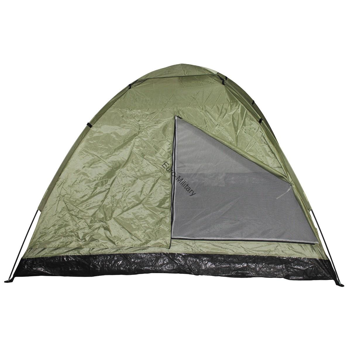 Military Tactical 3 Man Monodom Outdoor OD Green Shelter Tent