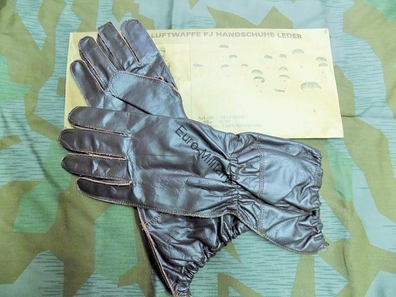 WW2 German Army LW Fallschirmjäger Paratrooper Combat Leather Gloves