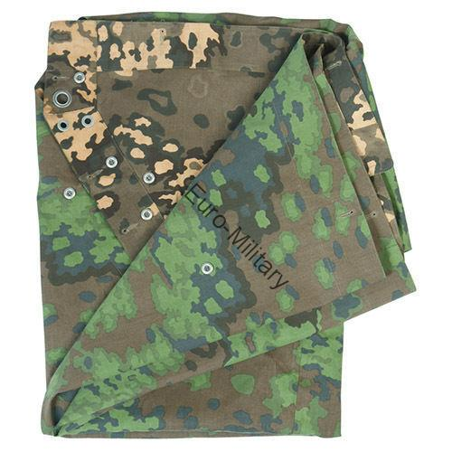 WW2 German Army OAK Leaves SS,WH Camo M34 Shelter Half