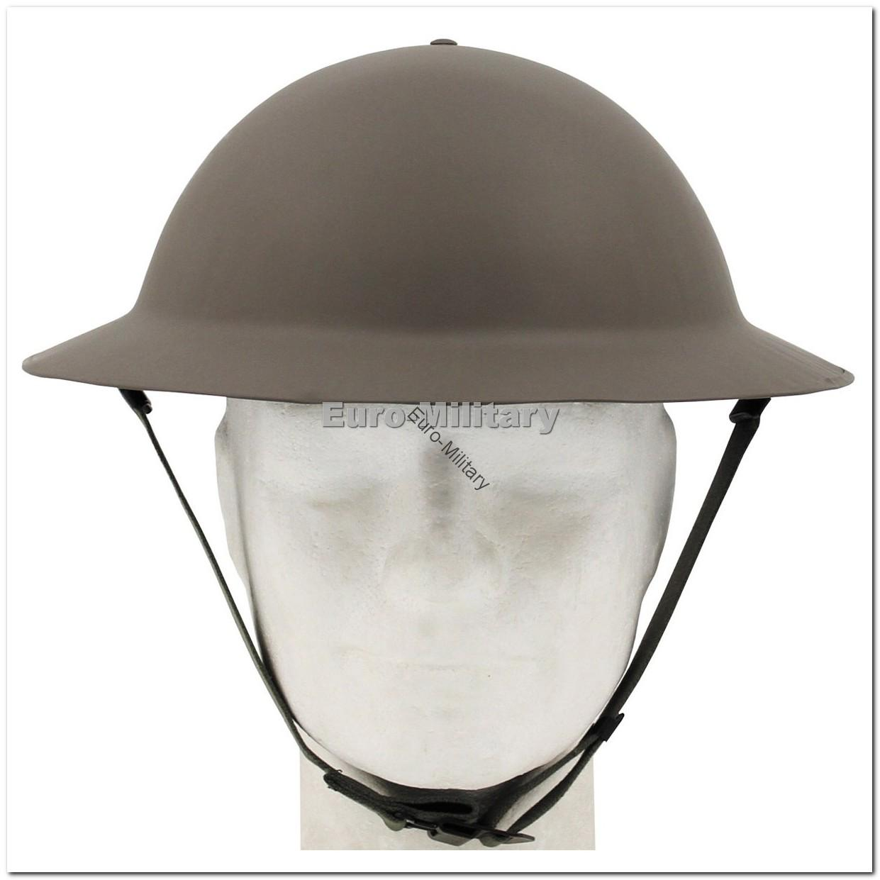 WW2 British Army Brodie Steel Helmet with Liner - Repro