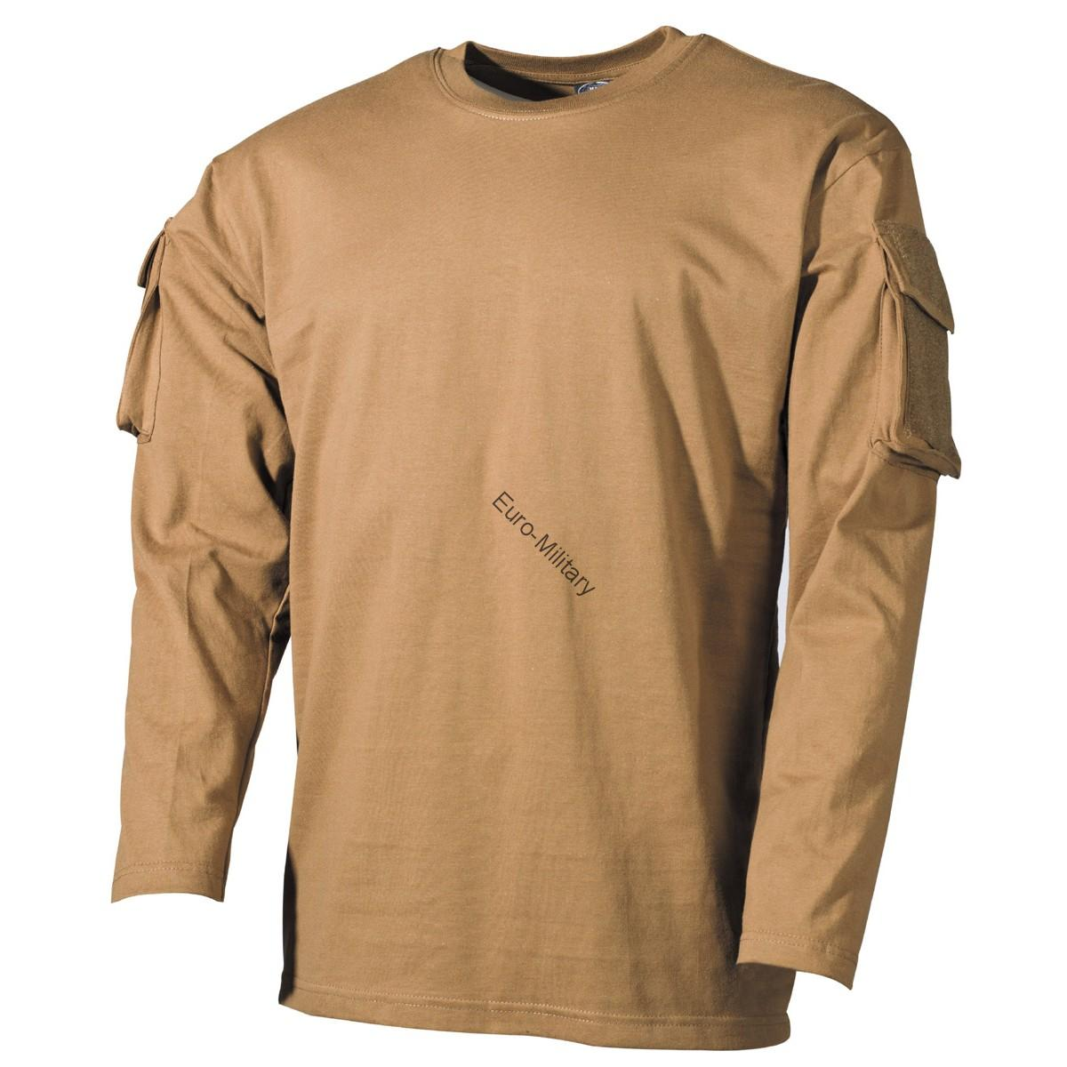 Tactical Military Army Special Ops Combat T-Shirt - Coyote - Long Sleeve