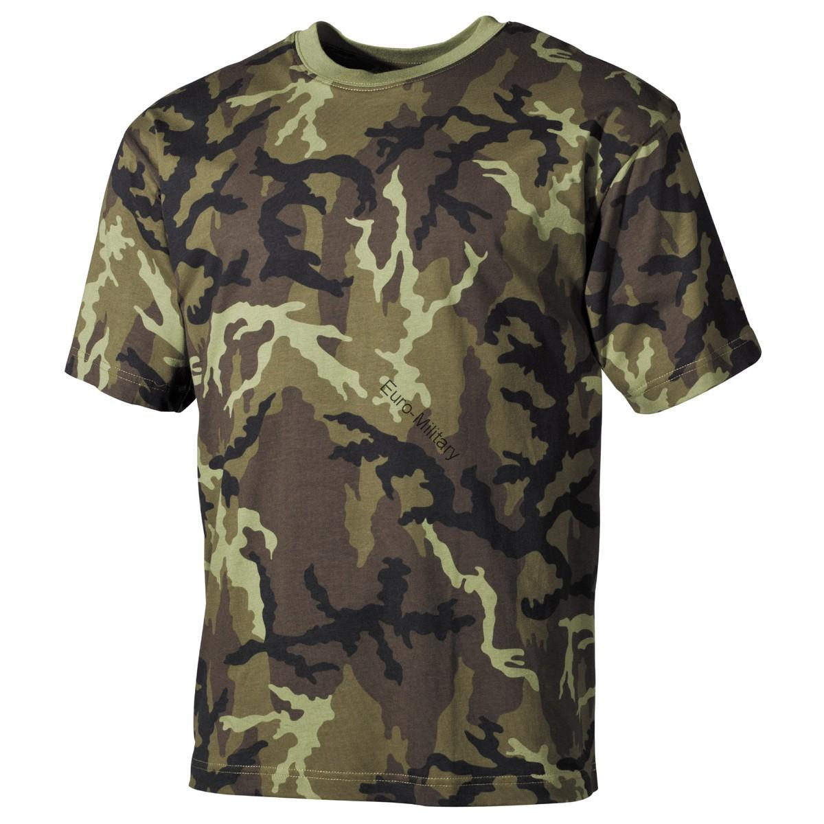 Czech Army M95 Camo T-Shirt - Short Sleeve