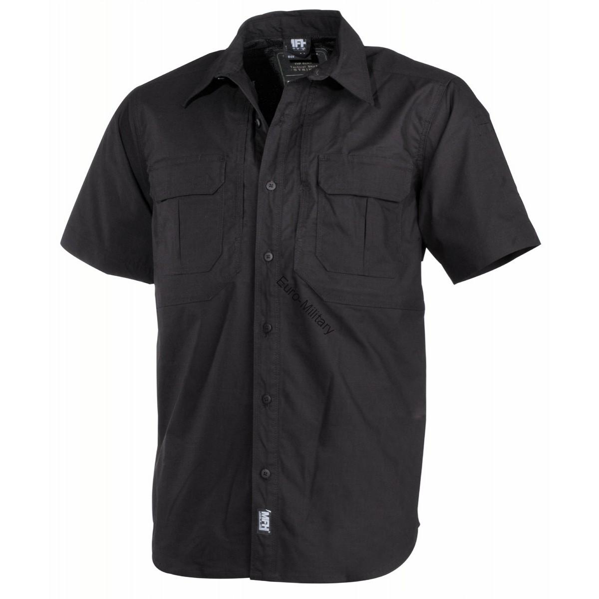 "High Level Tactical Rip Stop Shirt ""Strike"" Short Sleeve Teflon - Black"