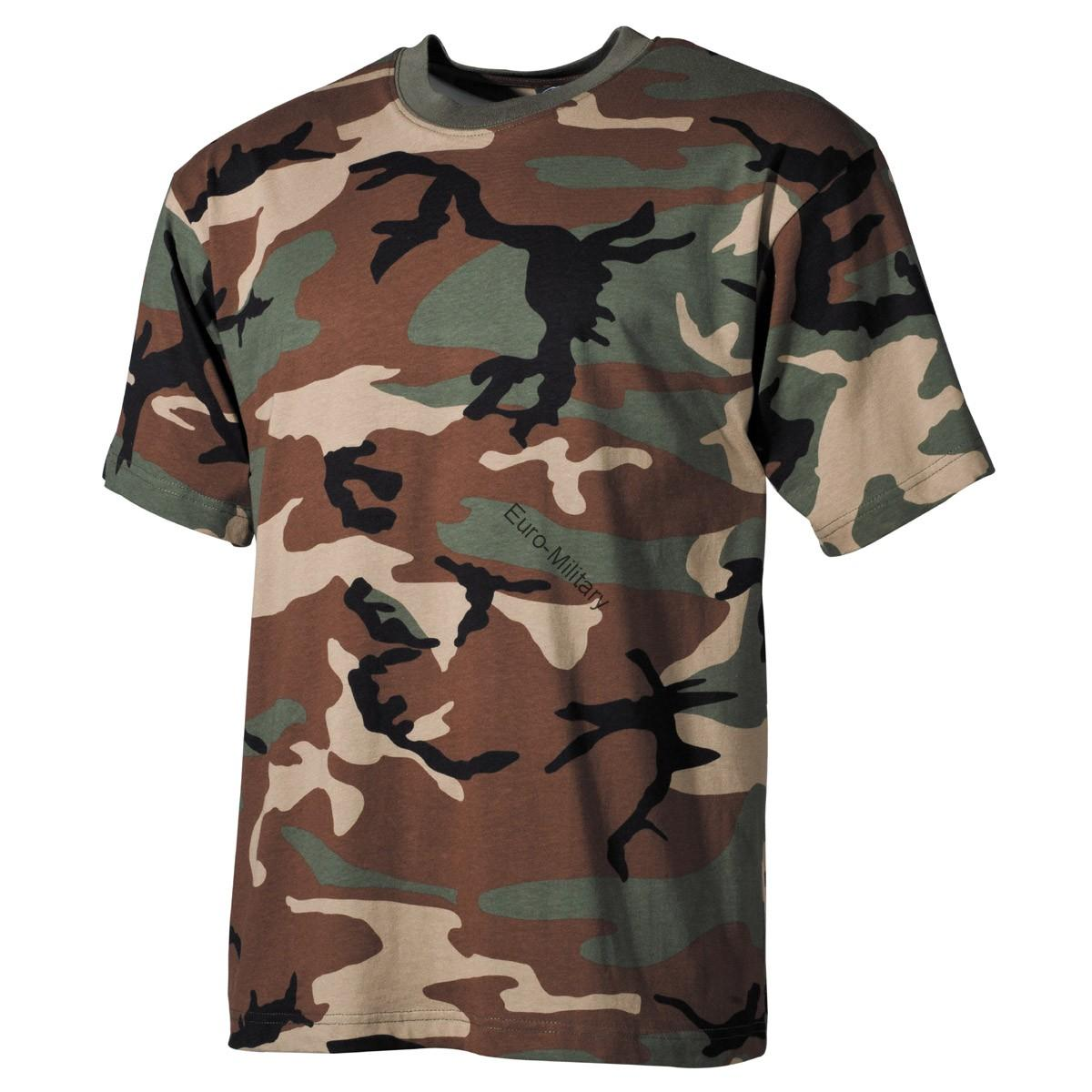 Woodland Camo T-Shirt - Short Sleeve