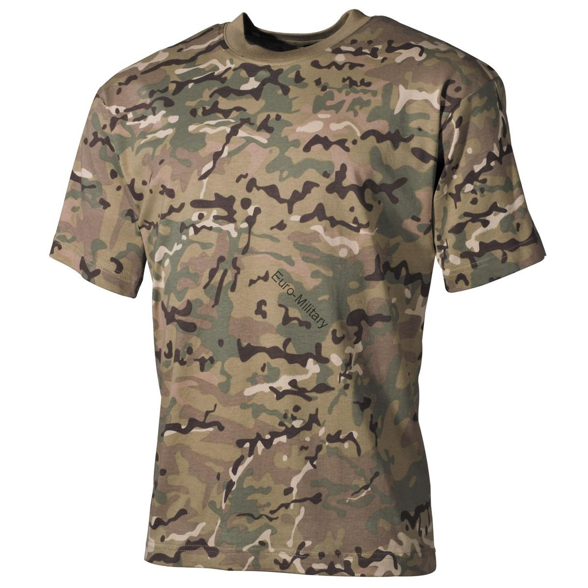 US Army Multicam Camo T-Shirt - Short Sleeve