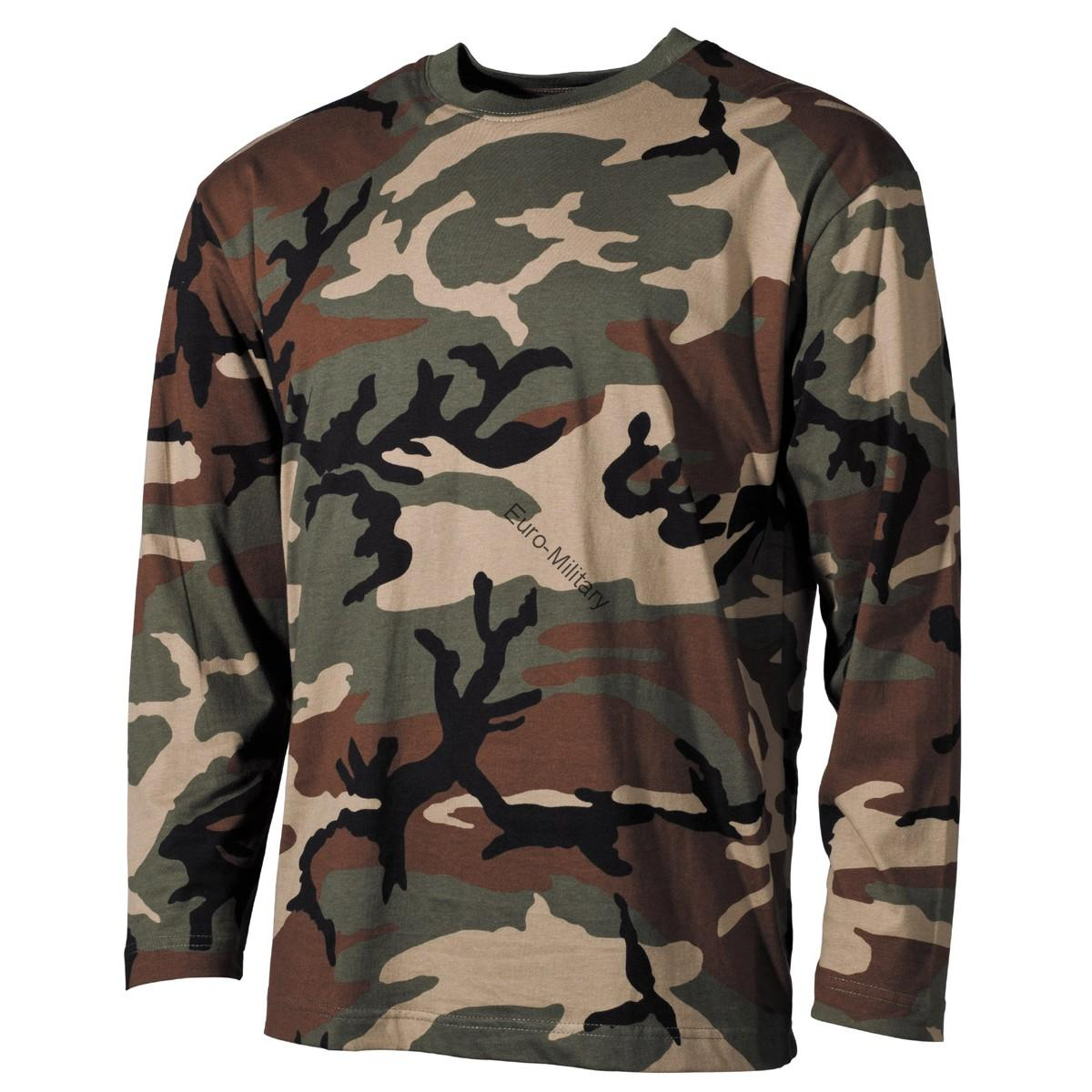Woodland Camo T-Shirt - Long Sleeve