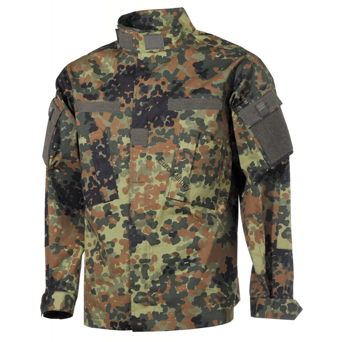 BW German Army Flectarn Camo Pattern Rip Stop Battle Combat Jacket