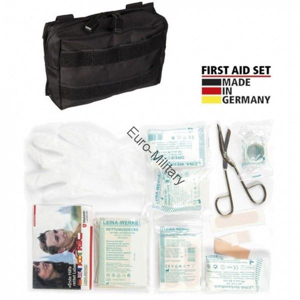 LEINA® Tactical Military First Aid Kit 25 pcs Professional Set - Black