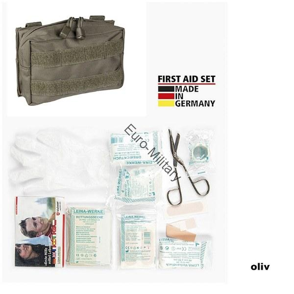 LEINA® Tactical Military First Aid Kit 25 pcs Professional Set - Green