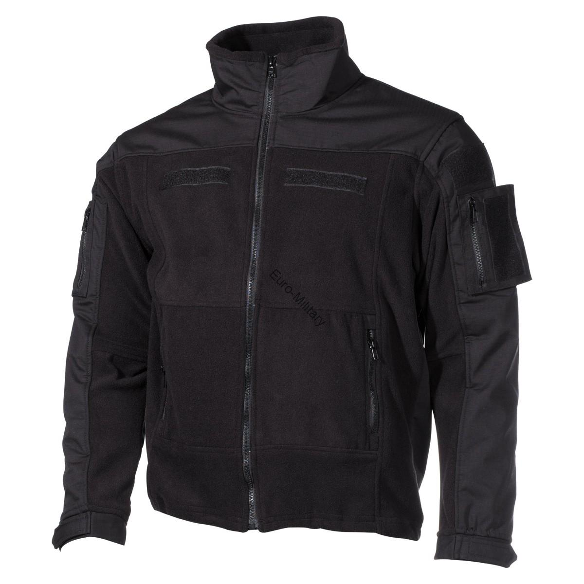 Professional Tactical Military Fleece Jacket COMBAT High Defense - Black