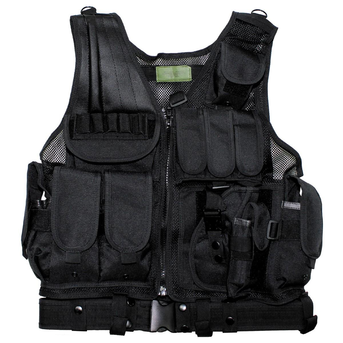 USMC  Tactical Combat Assault Military Battle Vest with Belt - Black