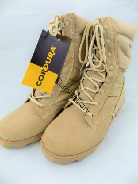 US ARMY Jungle Desert Combat Patrol Mens Tactical Boots Suede Leather - Khaki