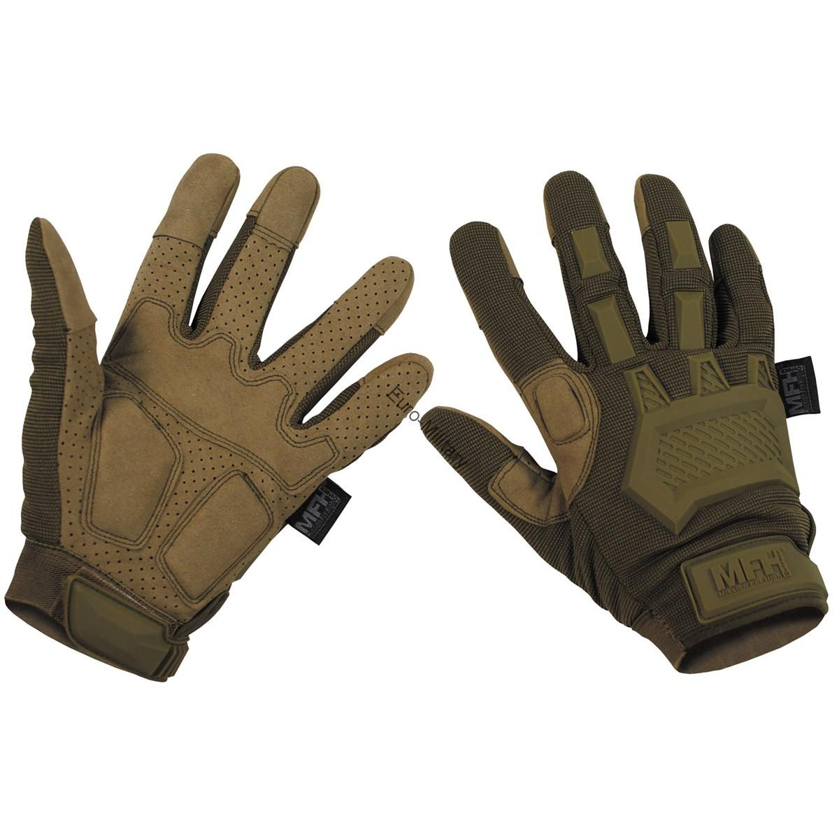 Tactical Military Shooting Profi Gloves - Coyote