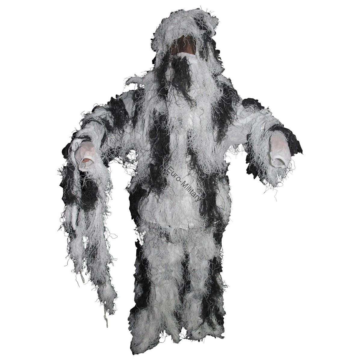 Full Cover Military/Hunting Sniper Ghillie - Snow Camo