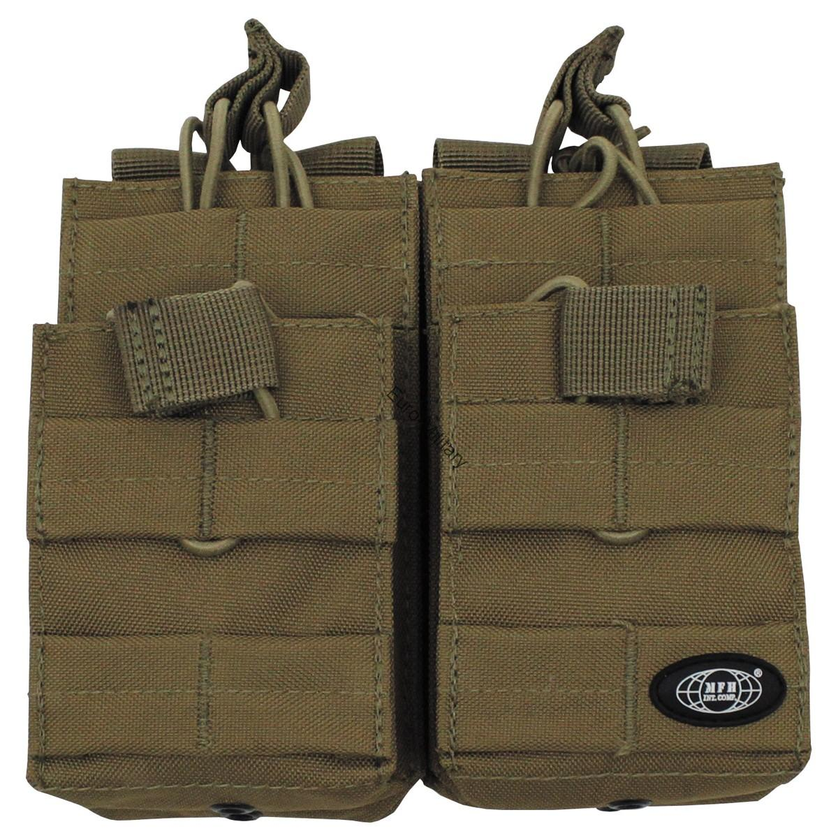 Modular Molle Magazine Open Double Pouch - Coyote