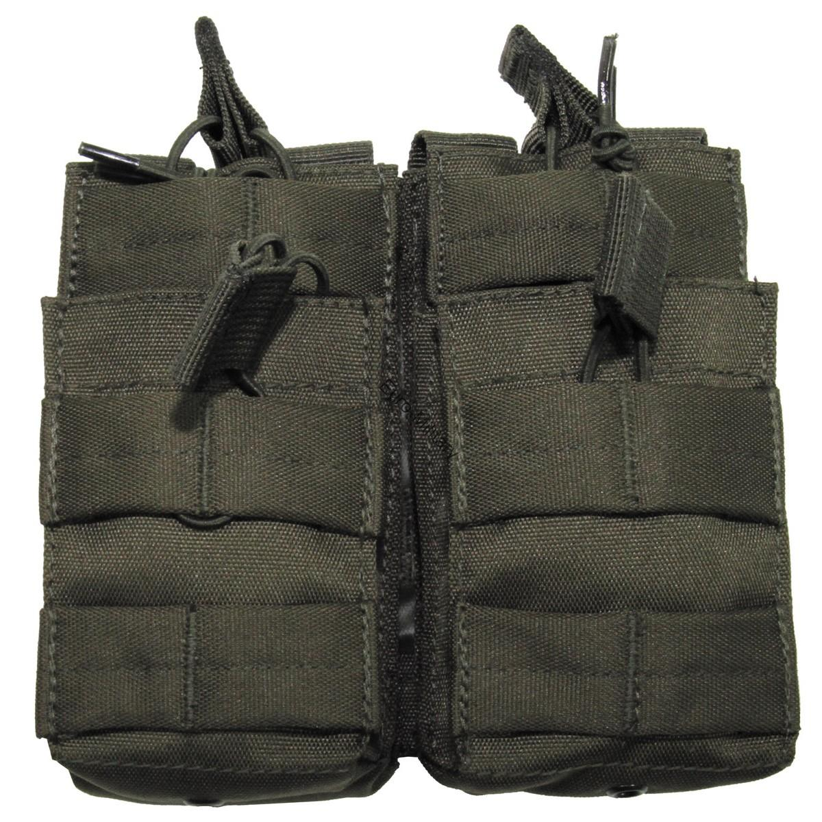 Modular Molle Magazine Open Double Pouch - OD Green