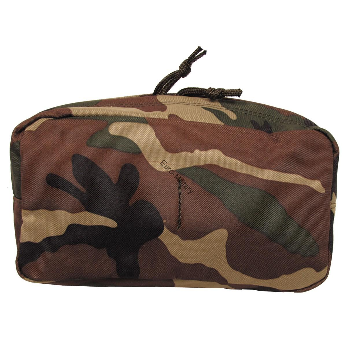 Tactical Utility Mollle Large Pouch - Woodland