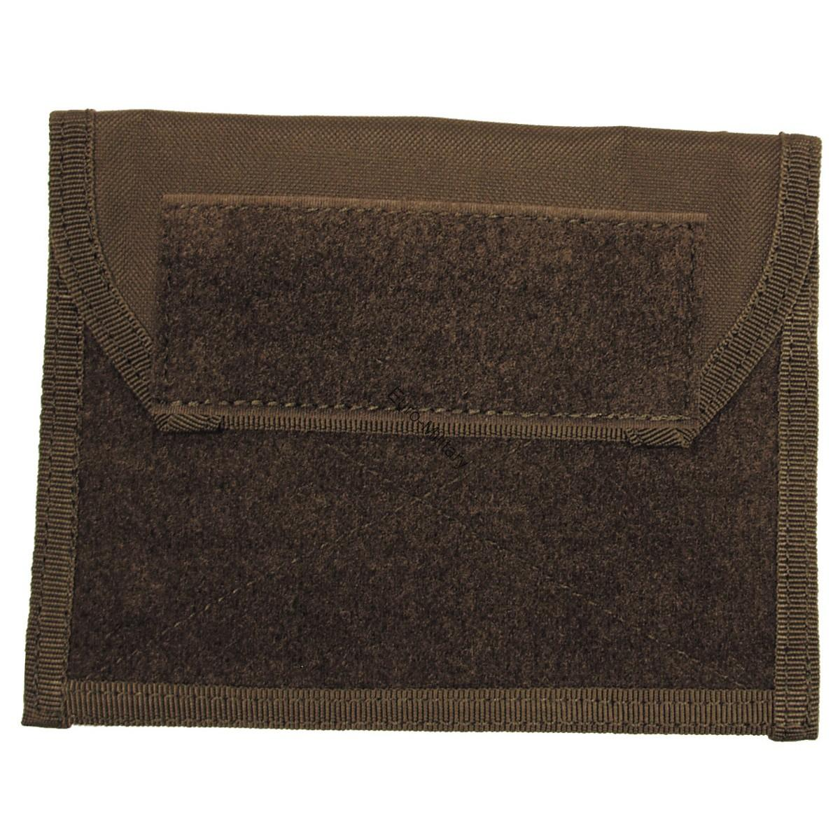 Tactical Admin Chest Molle Pouch w/ Velcro - OD Green