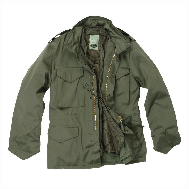 US Army Classic M-65 Combat Field Military Jacket - Olive