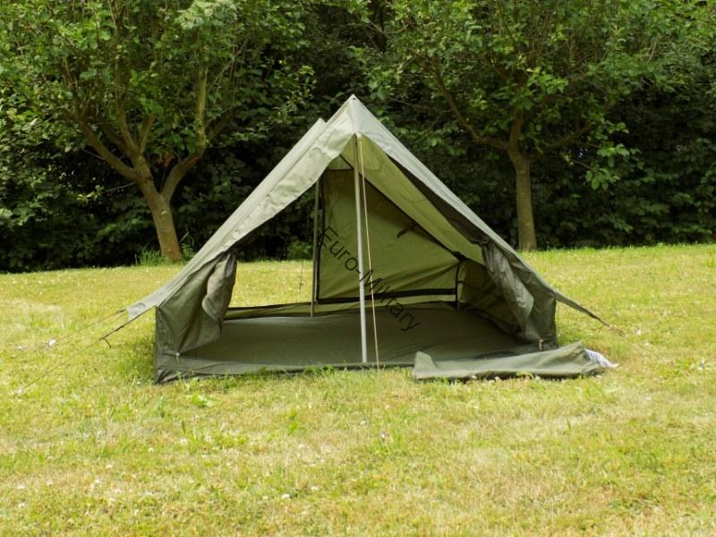Original French Army 2 Mens Tent Shelter w/ Floor - New Unused - OD Green