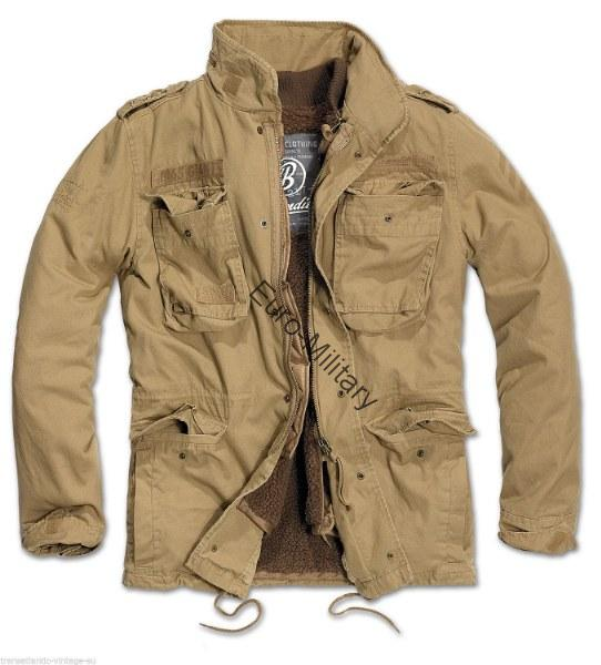 Brandit® US Army M-1965 M65 GIANT Military Warm Lining Field Mens Jacket - Camel