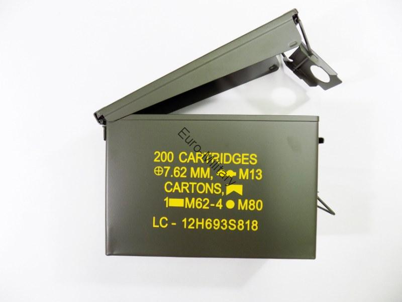 US Ammo Cans Steel Box 30 Cal. Nato Standarts 200 M19A1