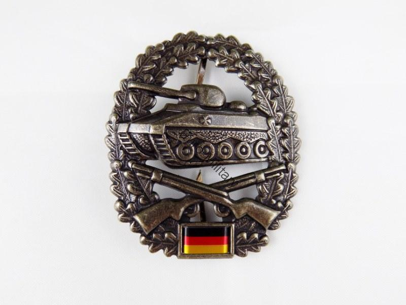"BW German Army Cap Beret Metal Badge Insignia ""Panzergrenadiere"" Unit"
