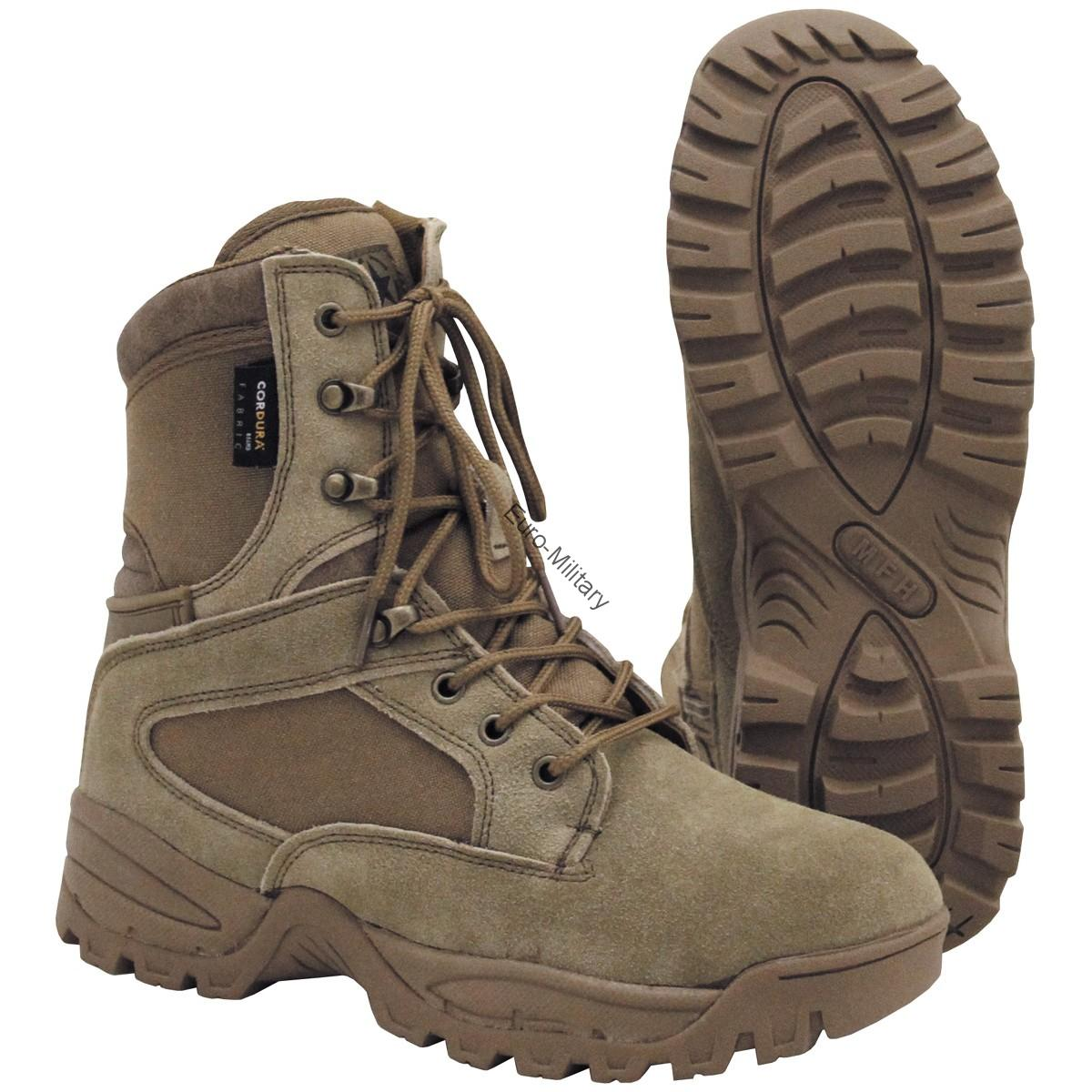 "Professional Military Tactical Cordura Lined Boots ""Mission"" Coyote"