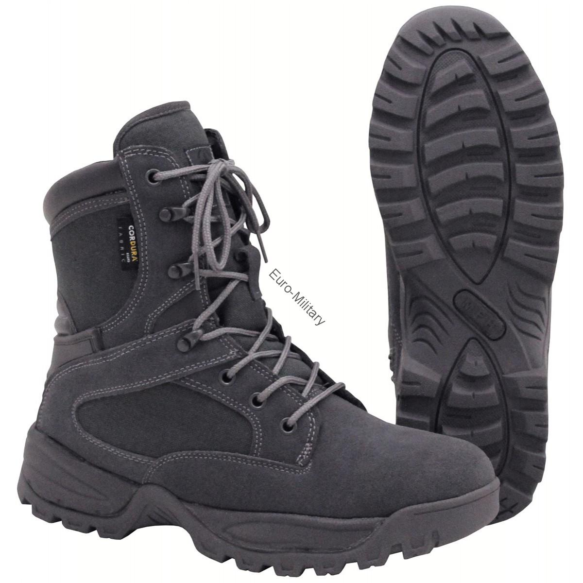 "Professional Police Military Cordura Lined Boots ""Mission"" Black"