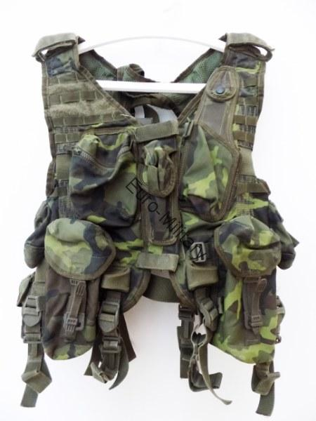 Original Czech Army Tactical Professional Vest MNS-2000 M95 CZ Camo Pattern USED
