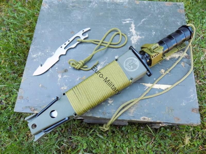 "Survival Outdoor Army Knife ""JUNGLE II"" w/ Varios Survival Equipment"