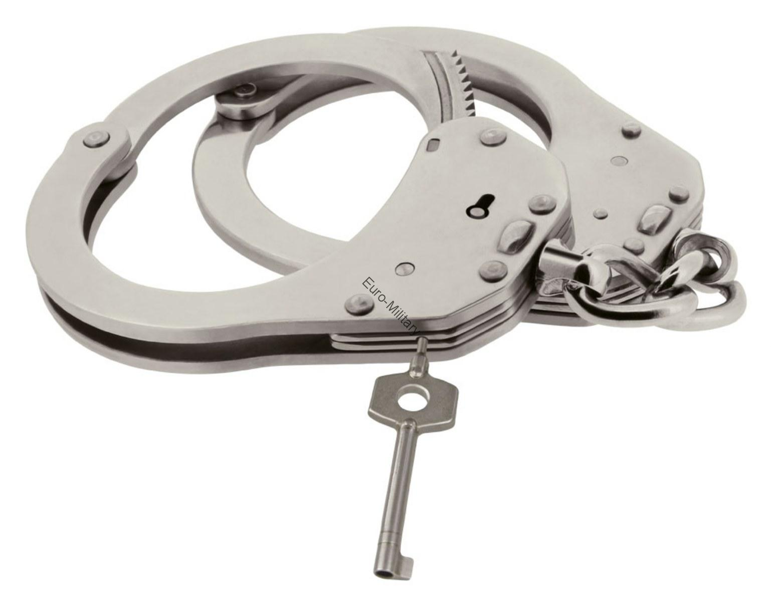 ESP® Czech Police Heavy Duty Professional Stainless Steel Handcuffs - NO TOY