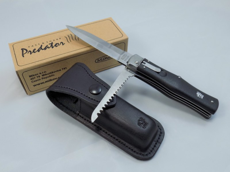 Spring Folding Knife PREDATOR w/ Saw - MIKOV