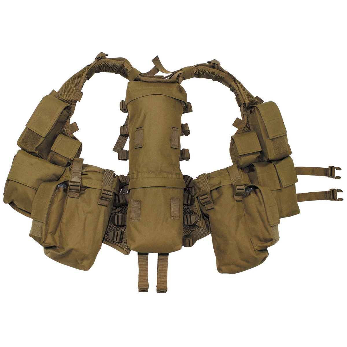 Military Spec Ops Tactical Vest with Various Pockets - Coyote