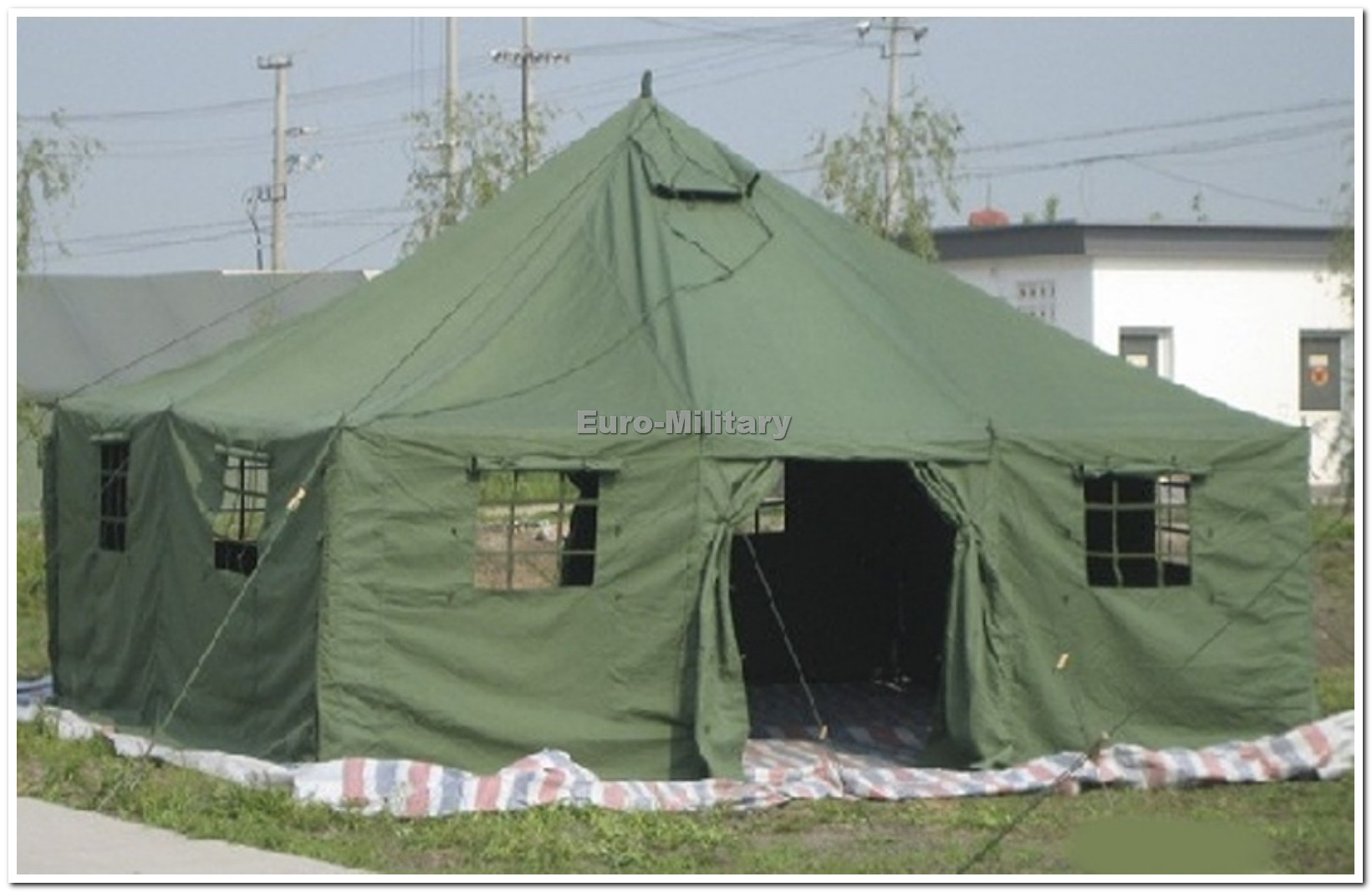 Military Army Large 11 Men Base Camp TENT 5x5m Canvas Olive