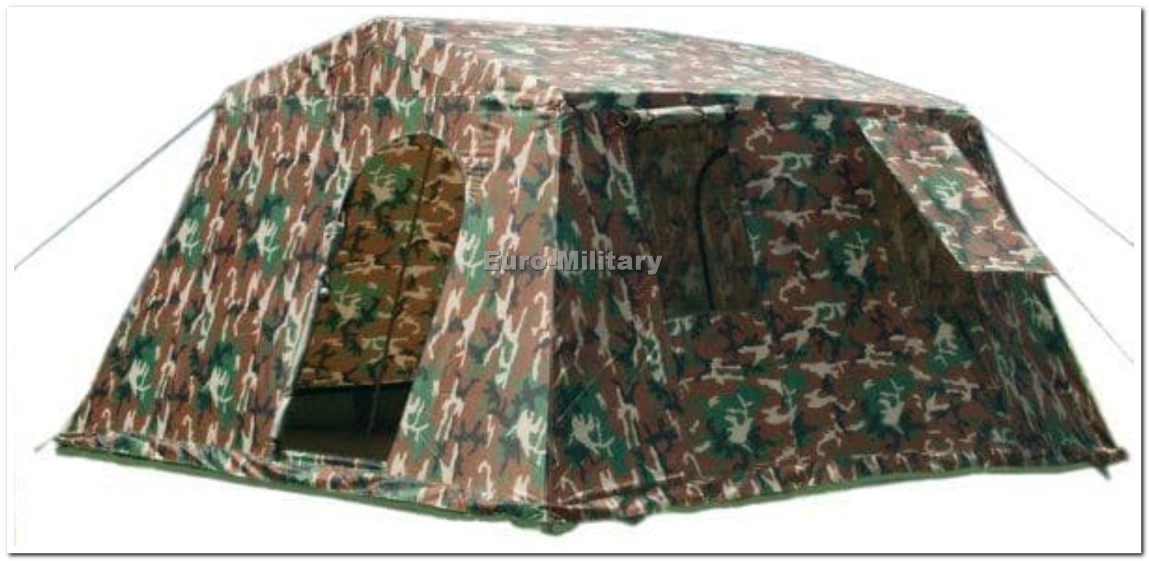 Military Army Outdoor Large BaseCamp Tent Shelter 6 Person - Woodland
