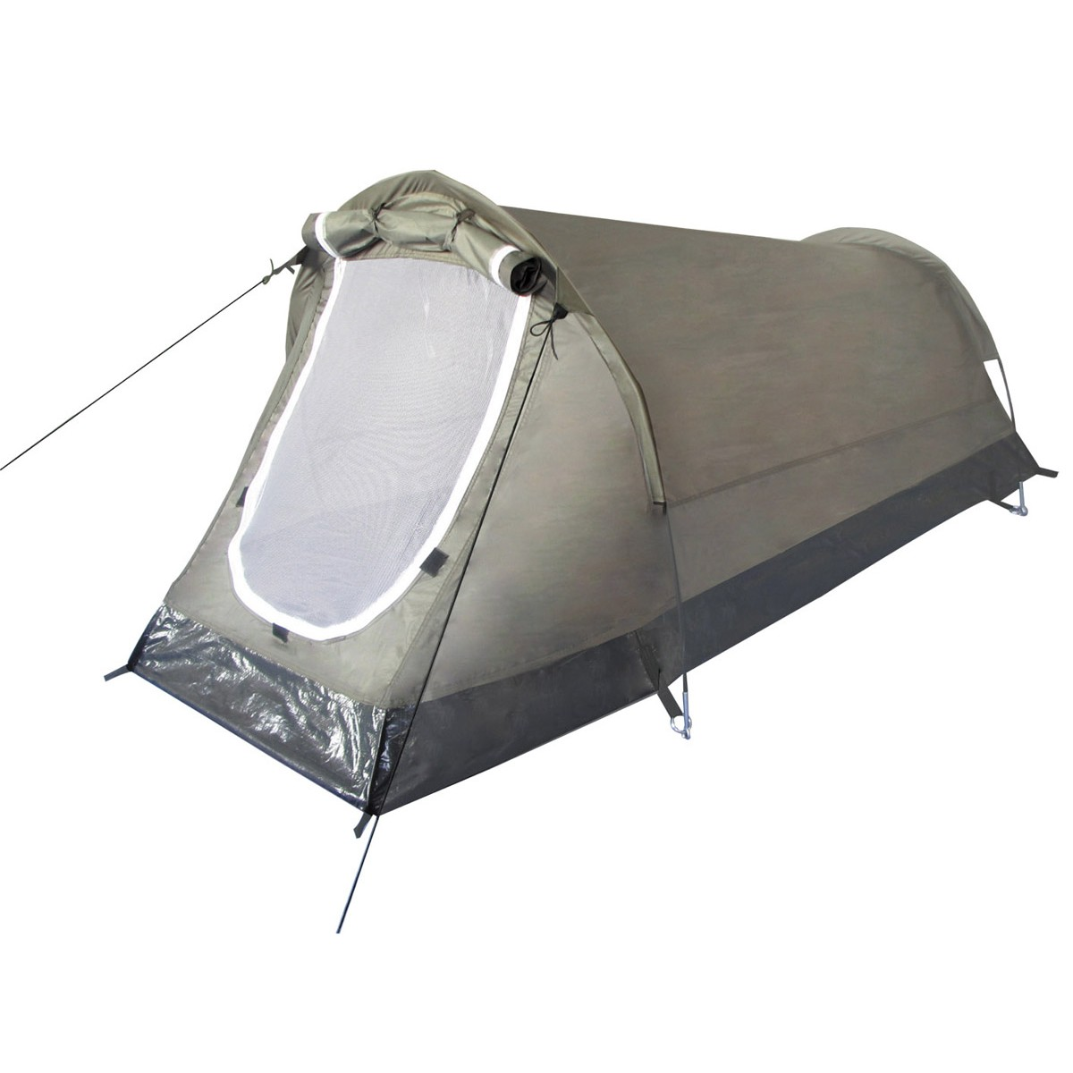"Tactical Military Hiking Camping Outdoor Tunnel Tent ""Hochstein"" 2 Person Green"