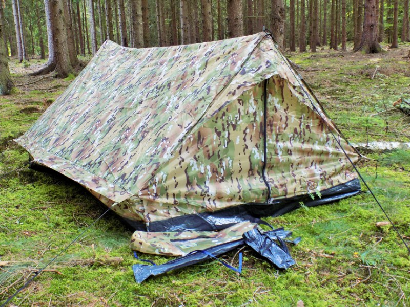 Standard Two Man Military Army Tactical Double Shelter - Multitcam