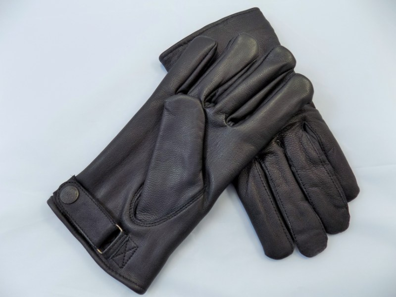 Military BW WW2 German Army Officer SS Leather Black Gloves